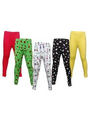 Pack of 5 Little Star Girl's Multicolor Leggings - 3205_leggy Doll