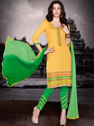 Adah Fashions Embroidered  Cotton Satin Semi-Stitched Suit 755-111
