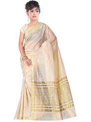 Adah Fashions Beige South Silk Saree -888-106