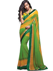 Zoom Fabrics Georgette Printed Saree -A1108