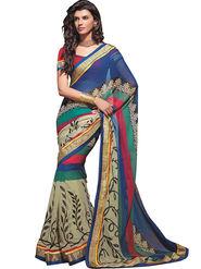Zoom Fabrics Georgette Printed Saree -A1115