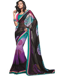 Zoom Fabrics Georgette Printed Saree -A1121