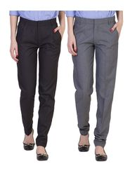 Pack of 2 American Elm Women Formal Trousers - AEWTR-2