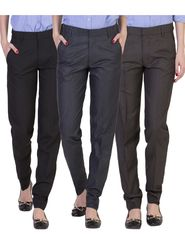 Pack of 3 American Elm Women Formal Trousers - AEWTR-4