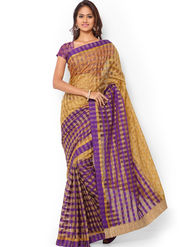 Admyrin Kota Check Saree with Brocade Blouse Piece-ays04