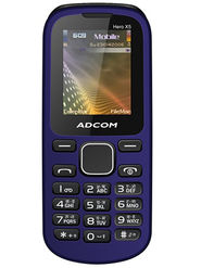 Adcom X5 With Voice Changer Dual Sim Mobile - Black & Blue