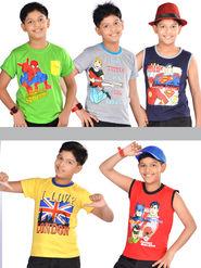 American Indigo Kids Star 5 Graphical Printed T-shirts