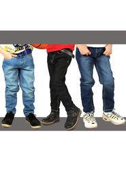 American Indigo Set of 3 Stylish Boys Denims