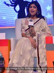 Arisha Net Embroidered Saree - Off White