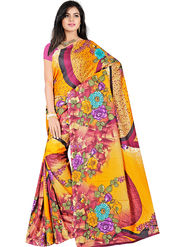 Bhuwal Fashion Plain Faux Georgette Multicolor Saree -Bfsun5002
