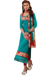 Styles Closet Embroidered Chanderi Unstitched Dress Material -Bnd-5280