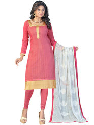 Styles Closet Embroidered Chanderi Unstitched Dress Material -Bnd-5299