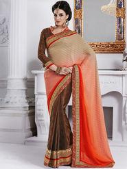 Bahubali Jacquard Embroidered Saree - Multicolor - GA.50202