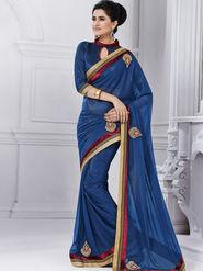 Bahubali Pakiza Embroidered Saree - Violet - GA.50209