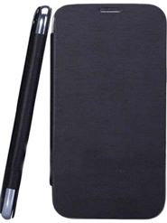 Camphor Flip Cover for Micromax A210 - Black