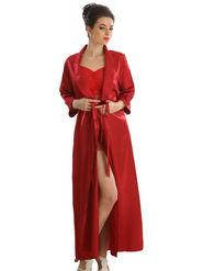 Set of 2 Clovia Blended Plain Nightwear - Maroon