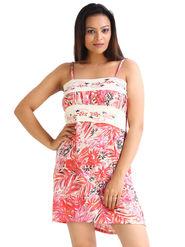 Fasense Hosiery Cotton Printed Nightwear Short Nighty -DP014A1