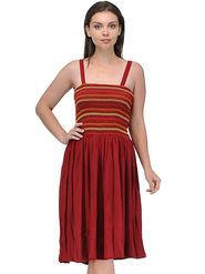 Arisha Viscose Solid Dress DRS1016rn