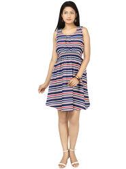 Arisha Crepe Printed Dress DRS1051Multi-M