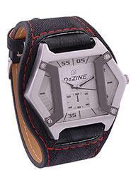 Dezine Wrist Watch for Men - White_DZ-GR104-WHT-BLK