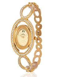 Dezine Wrist Watch for Women - Golden_DZ-LR100-GLD-GLD