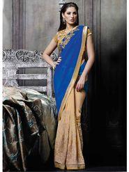 Viva N Diva Georgette Embroidered Saree -Dramatic-5100