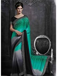 Viva N Diva Satin Embroidered Saree -Dramatic-5106