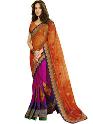 Zoom Fabrics Georgette Embroidered Saree -E7701