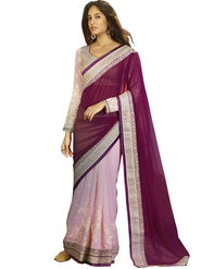 Zoom Fabrics Georgette Embroidered Saree -E7702