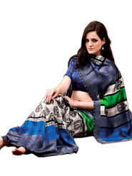 Ethnic Trend Cotton Printed Saree - Multicolour - 10010