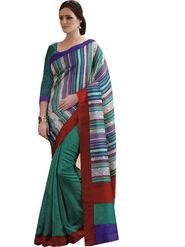 Ethnic Trend Cotton Printed Saree - Multicolour - 10048