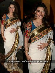 Ethnic Trend Chiffon Embroidered Saree - White
