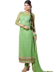 Fabfiza Embroidered Cotton Semi Stitched Salwar Suit_FB-6350