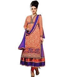 Fabfiza Embroidered Net Semi Stitched Salwar Suit_FBAS-906