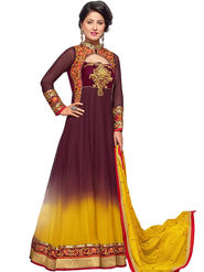Fabfiza Embroidered Georgette Semi Stitched Anarkali Suit_FBHZ-42003