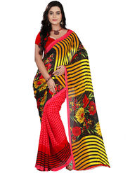 Florence Faux Georgette  Printed  Sarees FL-10962