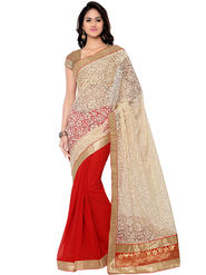 Florence Embroidered  Chiffon with Net Sarees -FL-11196