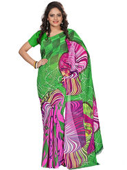 Florence Faux Georgette  Printed  Sarees FL-3186-B