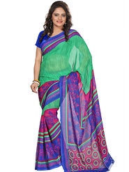 Florence Faux Georgette  Printed  Sarees FL-3192-C