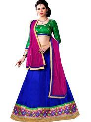 Florence Net & Shantoon Embroidered Lehenga - Blue - AN_1040