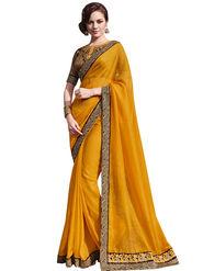 Bahubali Satin Jacquard Embroidery Saree -GA20019