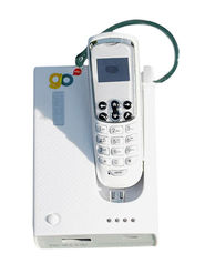 Go Hello Micro-02 World's Smallest Phone with Docking Station - White