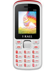 I Kall K55 1.8 Inch Dual Sim Mobile - White & Red