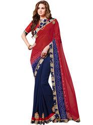 Indian Women Bandhani Print Georgette Saree -Ic11230