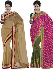 Pack of 2 Bahubali Embroidered Sarees - GAL812