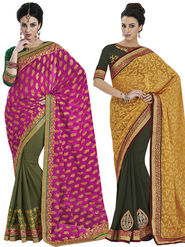 Pack of 2 Bahubali Embroidered Sarees - GAL843