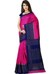 Inddus Bhagalpuri Silk Printed Saree - Pink - IND-BC-12011-B