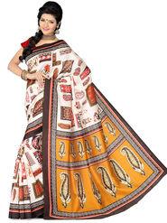 Ishin Bhagalpuri Silk Printed Saree - Multicolor - ISHIN-1776