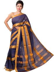 Ishin Cotton Printed Saree - Blue - SNGM-2438