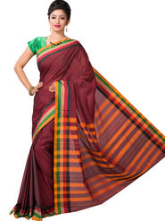 Ishin Cotton Printed Saree - Multicolor - SNGM-2448